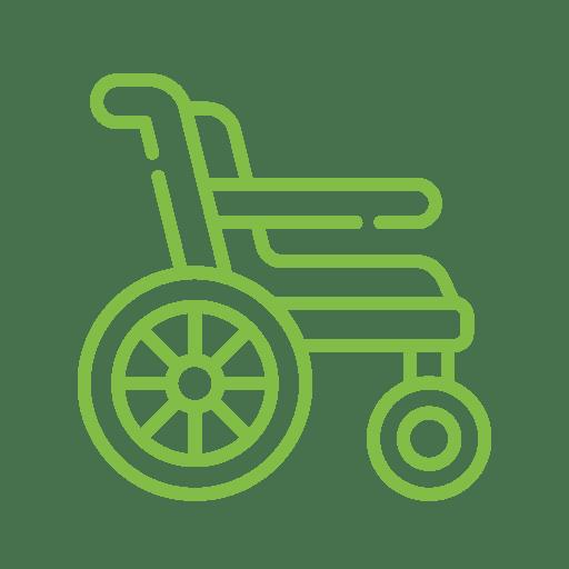 Icône qui représente une chaise roulante