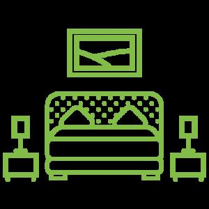 Icône qui représente une chambre